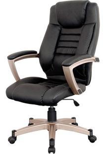 Cadeira Catalunha Assento Pu Preto Base Nylon - 6218 - Sun House