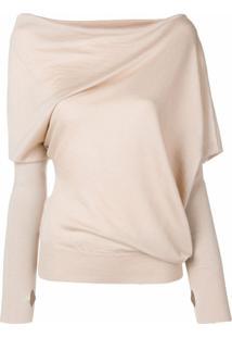 Tom Ford Asymmetric Knitted Blouse - Marrom