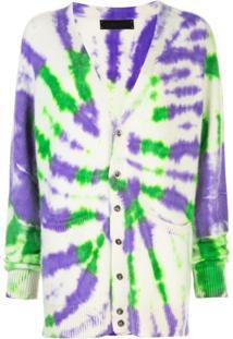 The Elder Statesman Tie Dye Long Cardigan - Estampado