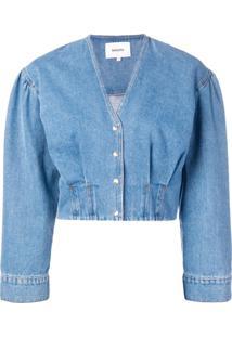 Nanushka Jaqueta Jeans 'Eliana' - Azul