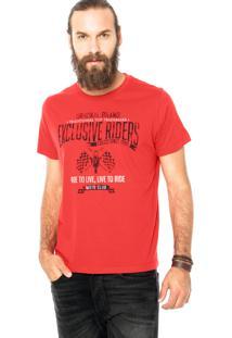 Camiseta Colcci Exclusive Riders Vermelha