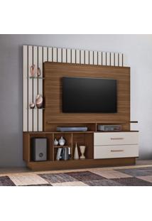Estante Home Para Tv Até 65 Polegadas Fascinio Candian Jcm Móveis Rovere/Off White