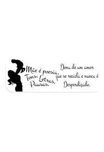 Passadeira Love Decor Máe É Poesia, Tons, Letras.. Off White