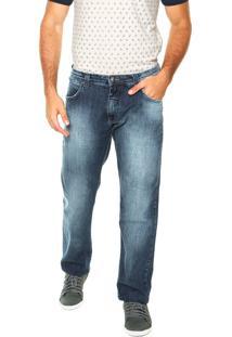 Calça Jeans Triton Reta John Lisa Azul