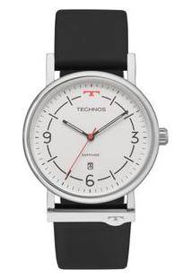 Relógio Technos Unissex Slim Prata