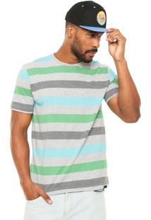 Camiseta Globe Listrado Cinza