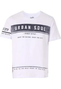 Camiseta Urban Masculina Km - Branco