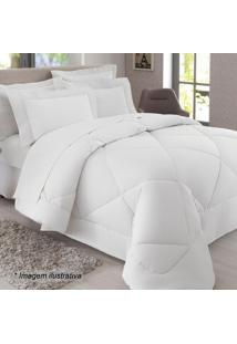 Edredom Queen Size- Branco- 250X260Cm- 300 Fios