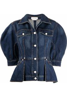 Alexander Mcqueen Structured Denim Jacket - Azul