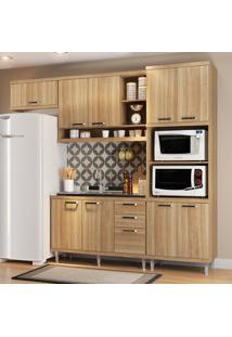 Cozinha Compacta Sem Tampo 9 Portas 5828 Argila - Multimóveis