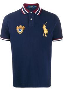 Polo Ralph Lauren Camisa Polo Bordada - Azul