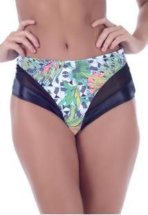 Calcinha Summer Soul Hot Pants Palmeira Verde