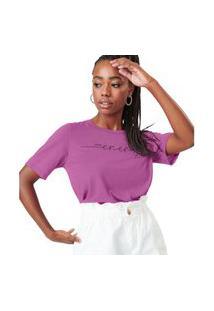 T- Shirt Feminina Energy Rovitex Roxo