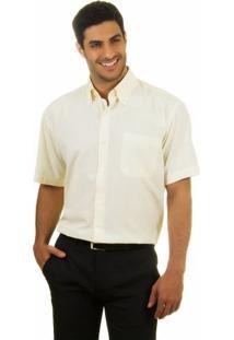 Camisa Social Masculina Amarela Clara Lisa - 001