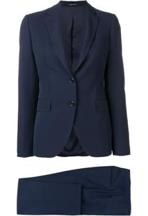 Tagliatore Single-Breasted Blazer - Azul