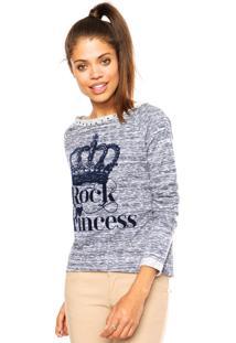Suéter Mrc Rock Princess Azul