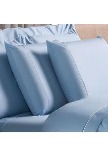 Fronha Avulsa Plumasul Basic Percal 230 Fios 50X150Cm Azul