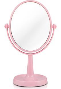 Espelho De Bancada Dupla Face Jacki Design Espelho - Rosa Rosa - Rosa - Menina - Dafiti