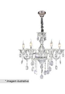 Lustre Maria Thereza- Cristal & Inox- 70X56X58Cmhevvy