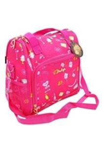 Bolsa Térmica Fitness Lancheira Praia Necessaire Rubys Pink 28X25X14Cm - Ddn/Ddm