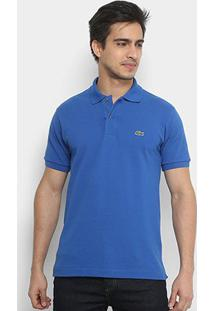 Camisa Polo Lacoste Piquet Original Fit Masculina - Masculino-Azul Navy