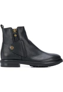 Agl Ankle Boot Com Botão - Preto