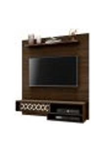 Painel Suspenso 1.2 Para Tv De Até 50'' Sala De Estar Yoko Cedro Texturizado - Gran Belo