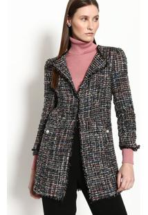 Casaco Tweed- Preto & Azulgregory
