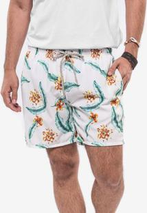 Short Branco Tropical 400061