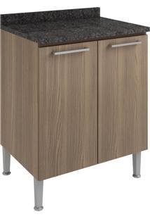 Armário De Cozinha 2 Portas 70 Cm 0873 Castanho - Genialflex