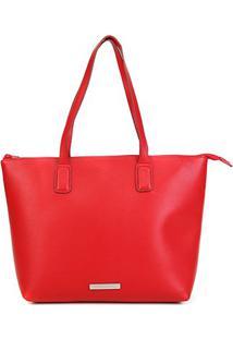 Bolsa Loucos & Santos Shopper Floter Feminina - Feminino-Vermelho