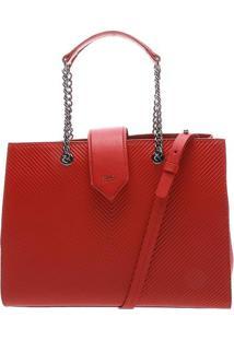 Bolsa De Ombro Texturizada- Vermelha & Chumboschutz