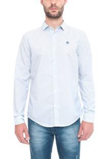 Camisa Manga Longa Stripe Poplin