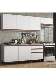 Cozinha Completa Madesa Reims 250002 Com Armã¡Rio E Balcã£O - Branco Branco - Branco - Dafiti
