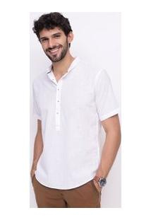 Camisa Bata Manga Curta