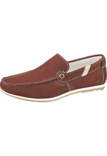 Sapato Bmbrasil Mocassim - Masculino-Bordô