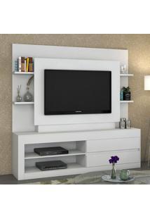 Estante Para Tv Até 43 Polegadas 2 Gavetas Tabu Branco - Viero Móveis