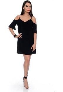 Vestido B'Bonnie Ombro Vazado Feminino - Feminino