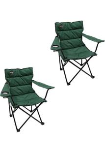 Kit 2 Cadeiras Dobráveis Boni Com Porta Copo Nautika - Unissex