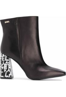 Karl Lagerfeld Ankle Boot Metro Graffiti - Preto