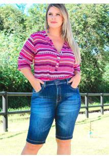 Bermuda Bolso Chapado Almaria Plus Size Fact Jeans