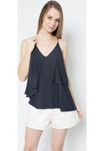 Blusa Lisa- Azul Marinho- Colccicolcci