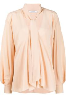 Givenchy Pussycat Bow Long-Sleeved Blouse - Neutro