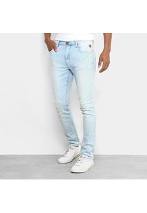 Calça Jeans Skinny Cavalera Delavê Stone Masculina - Masculino