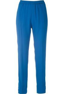 Reinaldo Lourenço Drawstring Slim-Fit Trousers - Azul