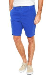 Bermuda Sarja Calvin Klein Jeans Chino Azul