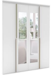 Guarda-Roupa Casal Com Espelho Sonhare 4 Pt Branco