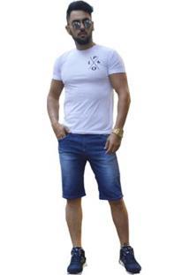 Bermuda Masculina Sol Jeans - Masculino-Azul