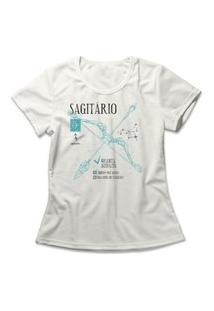 Camiseta Feminina Signo Sagitário Off-White