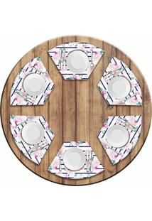 Jogo Americano Love Decor Para Mesa Redonda Wevans Floral Rose Kit Com 6 Pã§S - Multicolorido - Dafiti